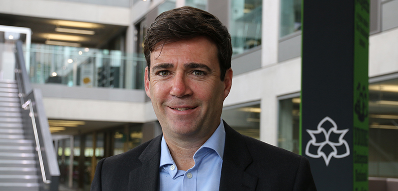 Andy Burnham, Mayor of Greater Manchester, was the keynote speaker at the centre's launch