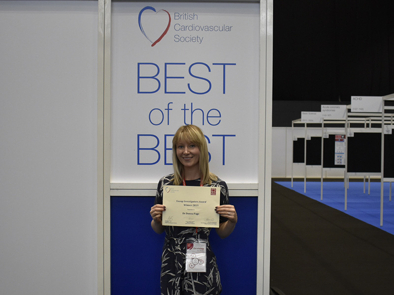 Dr Donna Page, who won her award for a breakthrough DNA study into congential heart condition Tetralogy of Fallow