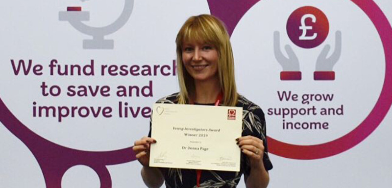 Dr Donna Page, Lecturer in Life Sciences at Manchester Metropolitan University, collected the British Cardiovascular Society Young Investigator of the Year Award