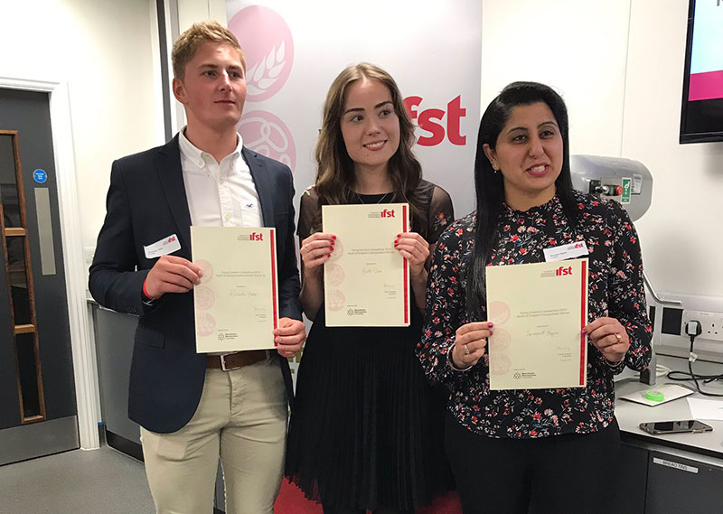 Manchester Met students named north of England's best Young Food Scientists