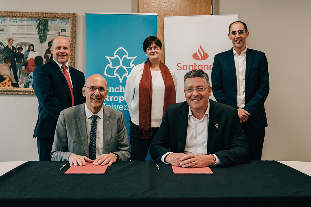 Manchester Metropolitan University and Santander have signed a new three-year partnership agreement