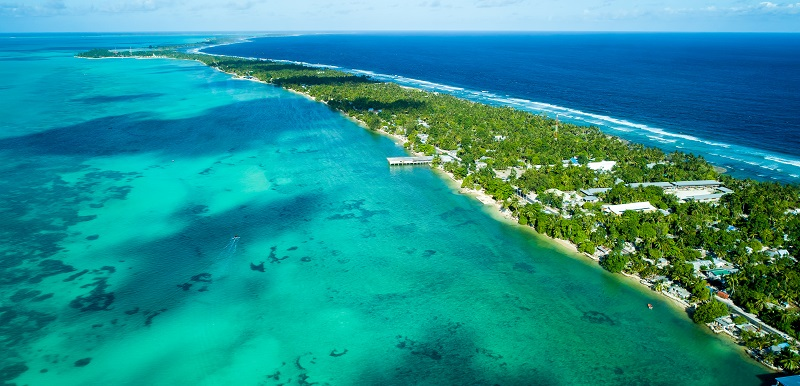 Kiritimati, the tiny Pacific island where humanity realised its most lethal potential, pictured from the air. Pic: Kyung Muk Lim/Shutterstock.com