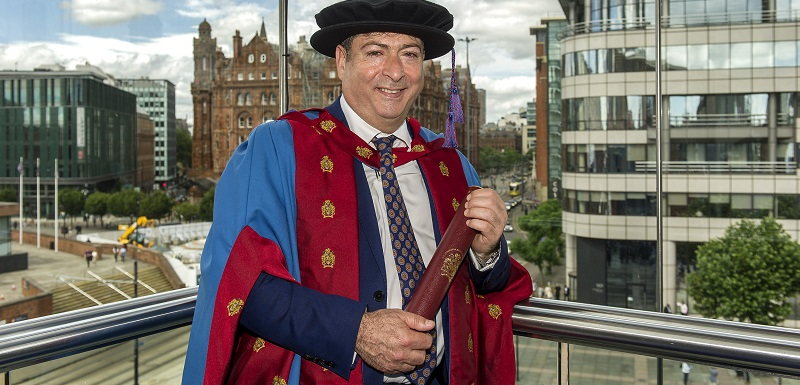 International contemporary artist, academic and author Professor Bashir Makhoul received an honorary Doctorate of Arts from Manchester Metropolitan University
