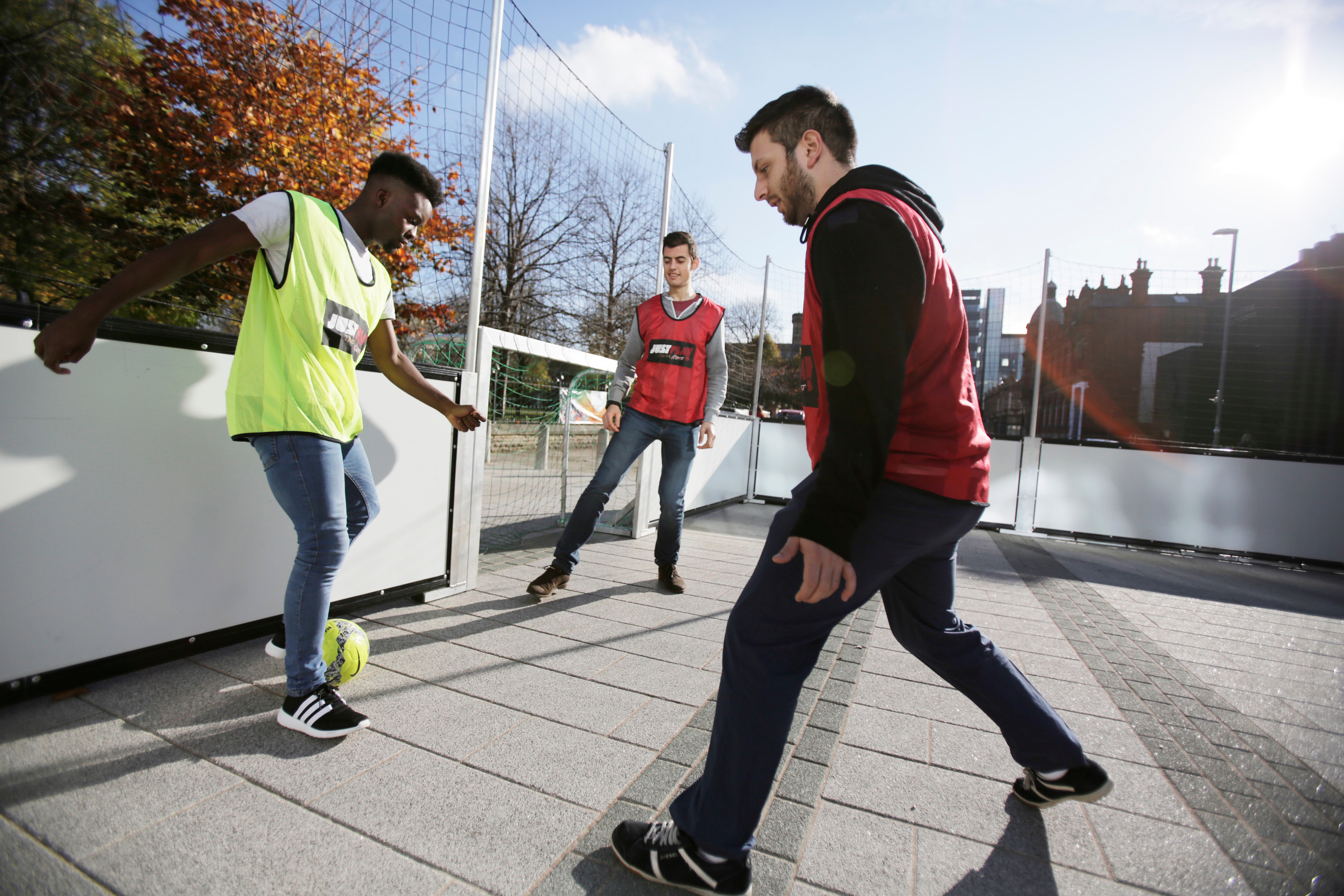 Students enjoying a Futsal session as part of 'Active Campus'