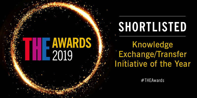 The Greater Manchester Youth Justice University Partnership has been shortlisted in the Knowledge Exchange/Transfer Initiative of the Year