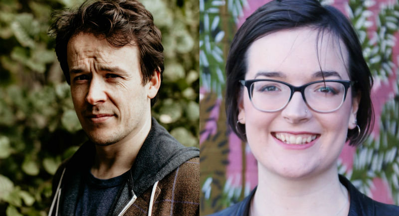 Niall Campbell (l - image Rachael Da Silva Burton) and Anna Appleby (r) will collaborate on the new opera