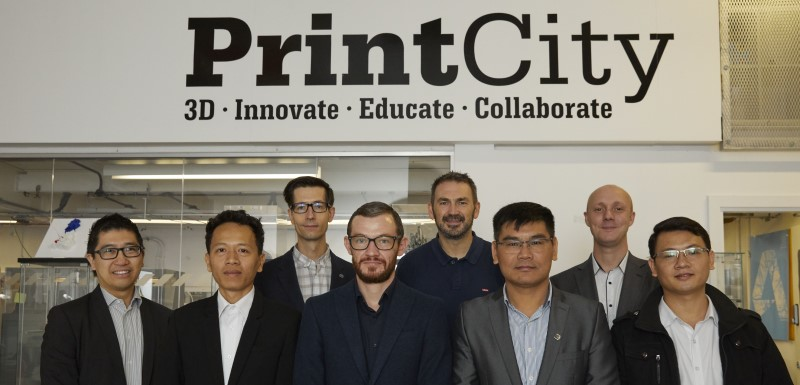 Engineering academics and staff from Manchester Metropolitan University's PrintCity welcomed visitors from Vietnam's National University of Civil Engineering to discuss PrintCity VN