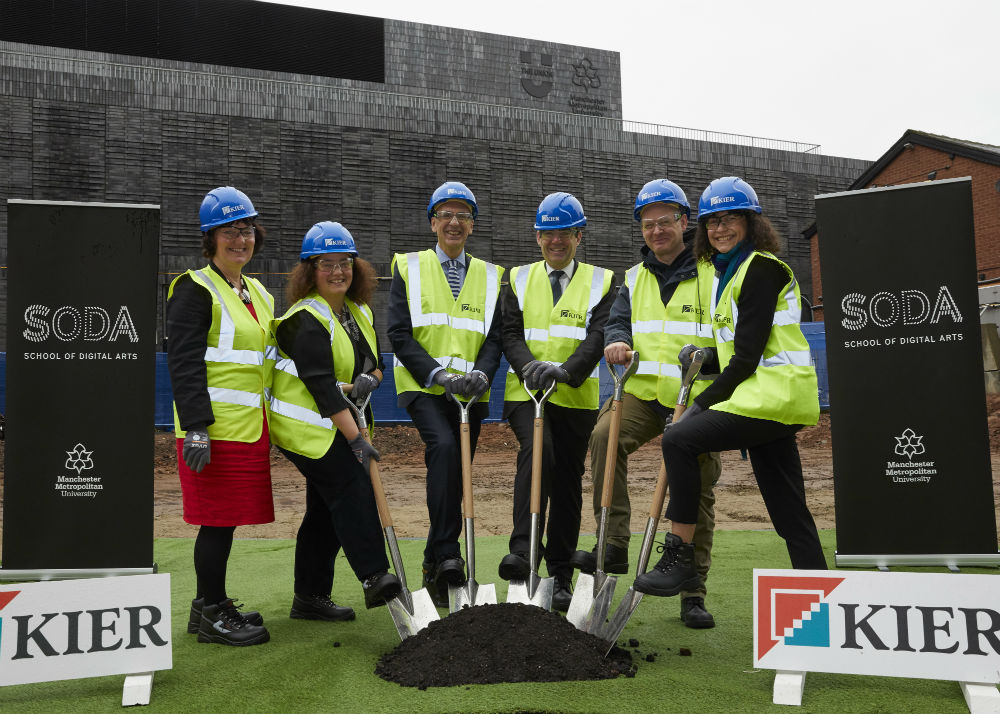 Construction work on the SODA building commenced on Monday (November 25) at a special groundbreaking event