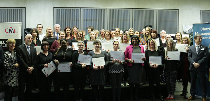 Chartered Manager Degree Apprentices celebrate their achievements