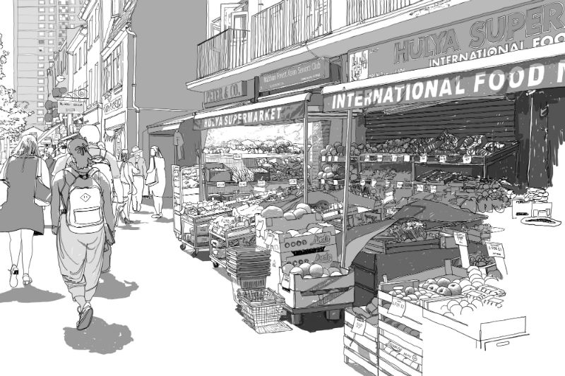 The Tales of the High Street research project will culminate in a beautifully illustrated book (image: David Rudlin)