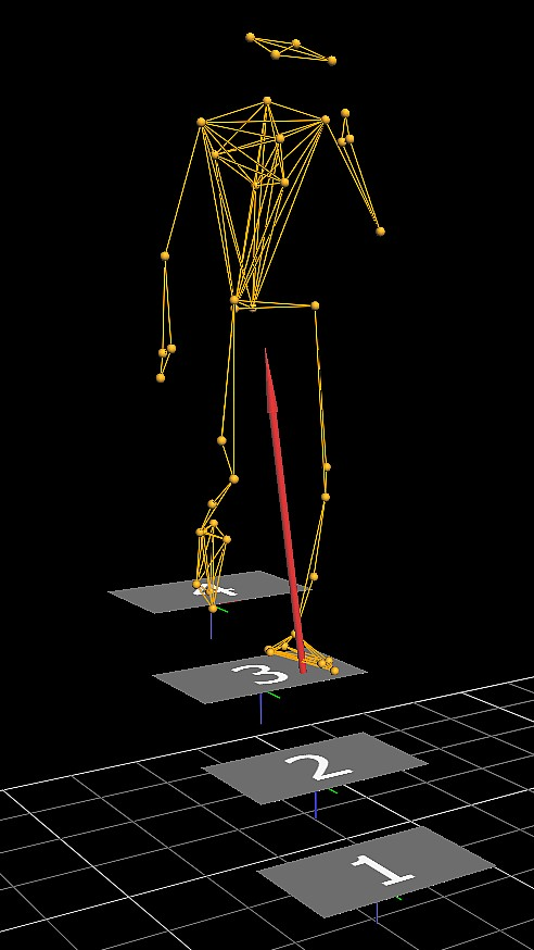 Motion capture software was used to study how the participants changed their gait during the walk-and-talk task