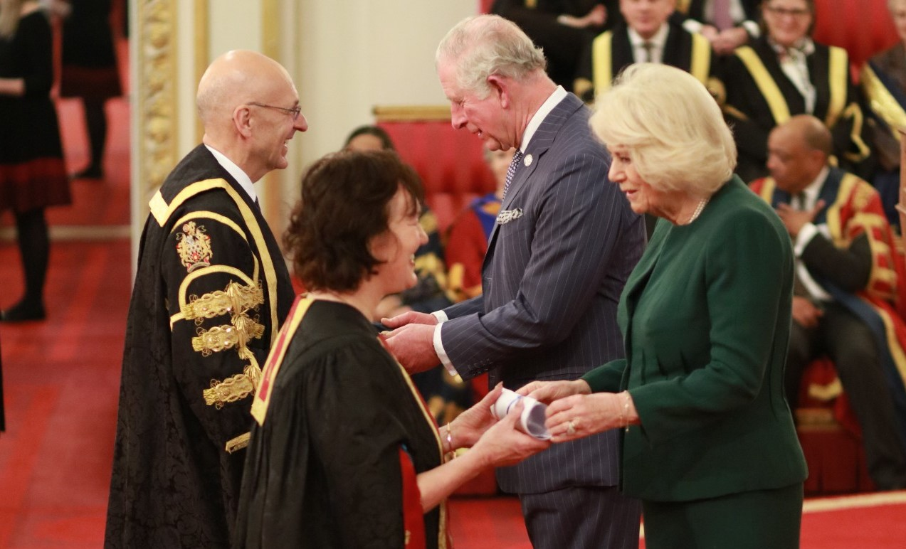 Their Royal Highnesses, The Prince of Wales and The Duchess of Cornwall presented the prize to University representatives including University Chancellor Lord Mandelson and Vice-Chancellor Professor Malcolm Press at the Palace on Thursday