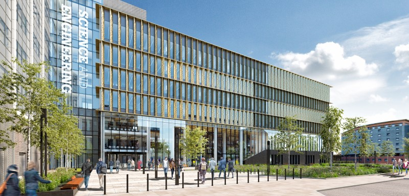CGI image of the new Science and Engineering Building that has been granted planning permission by Manchester City Council