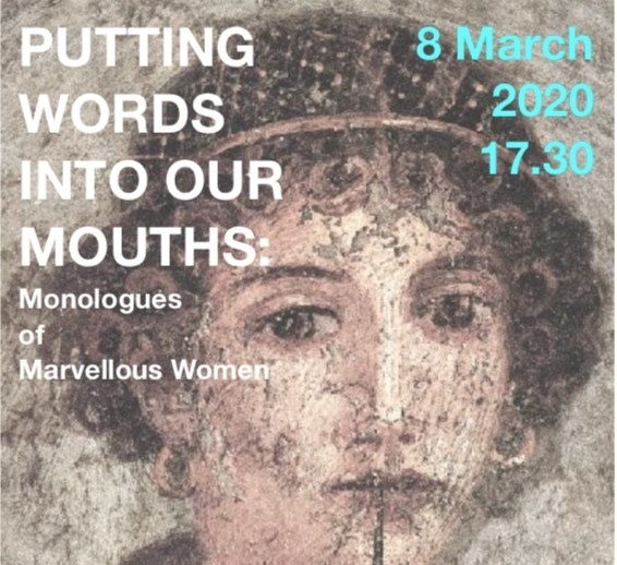 Lesley Hart, an MA Poetry student at the Manchester Writing School at Manchester Metropolitan University, has her creative project 'Putting Words Into Our Mouths: Monologues of Marvellous Women' performed.