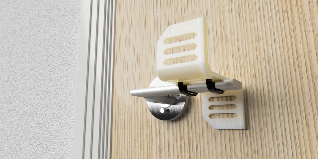 PrintCity's door handle prototype which could help reduce the spread of viruses and germs