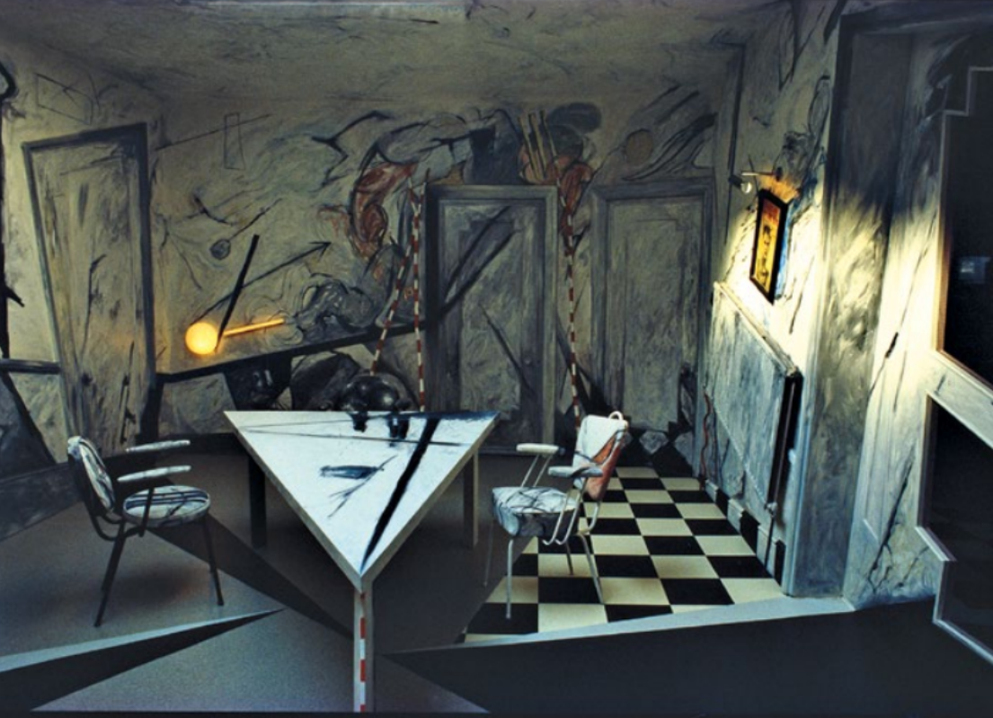 Entrance/Dining area inspired by German Expressionism. ©David Connor.