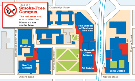 manchester metropolitan university campus map Smoke Free Campus Starts Manchester Metropolitan University manchester metropolitan university campus map
