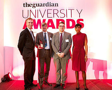 Image for We win Guardian's 'best' Student Experience