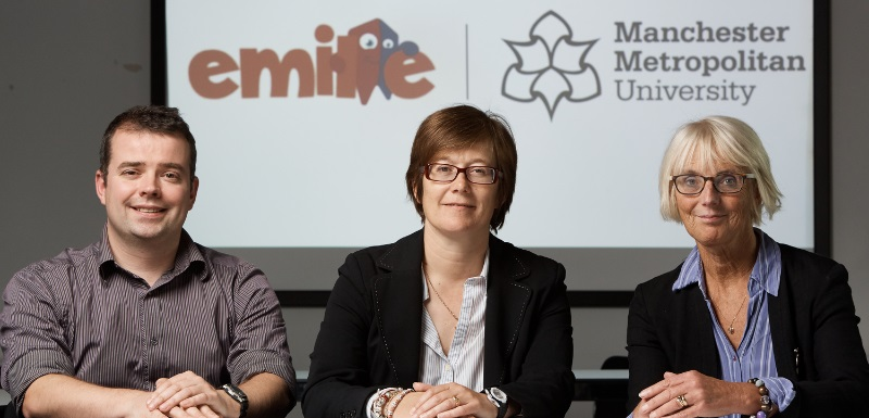 Developers of Emile educational portal Glen Jones, founder and managing director of Cyber Coach, with Sarah Lister and Pauline Palmer, Senior Lecturers in Primary Education at Manchester Metropolitan University