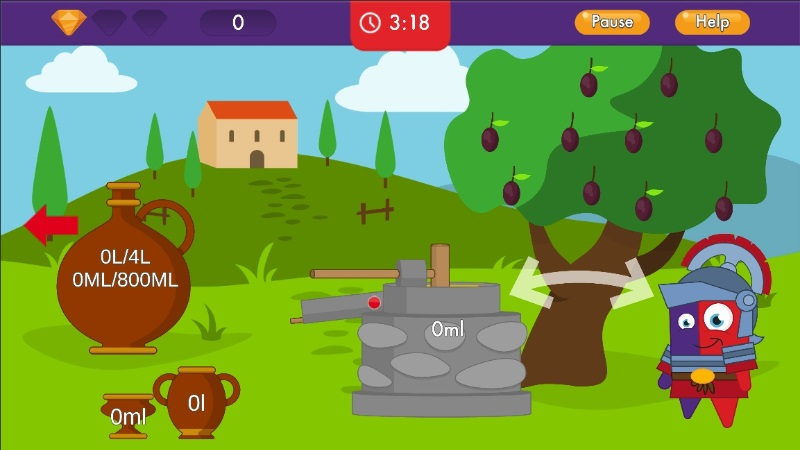 Screenshot from Emile measurements game