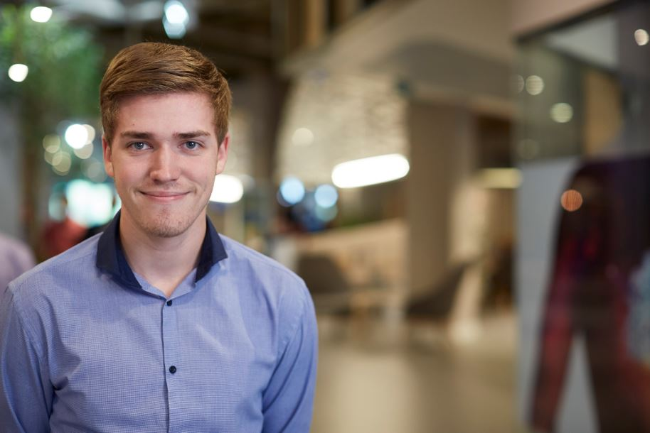 Ryan Coram, degree apprentice at AstraZeneca