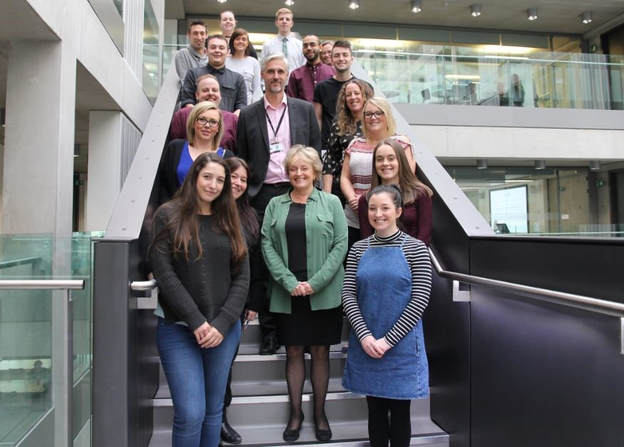 The first cohort of Asda apprentices pictured at Manchester Met Business School
