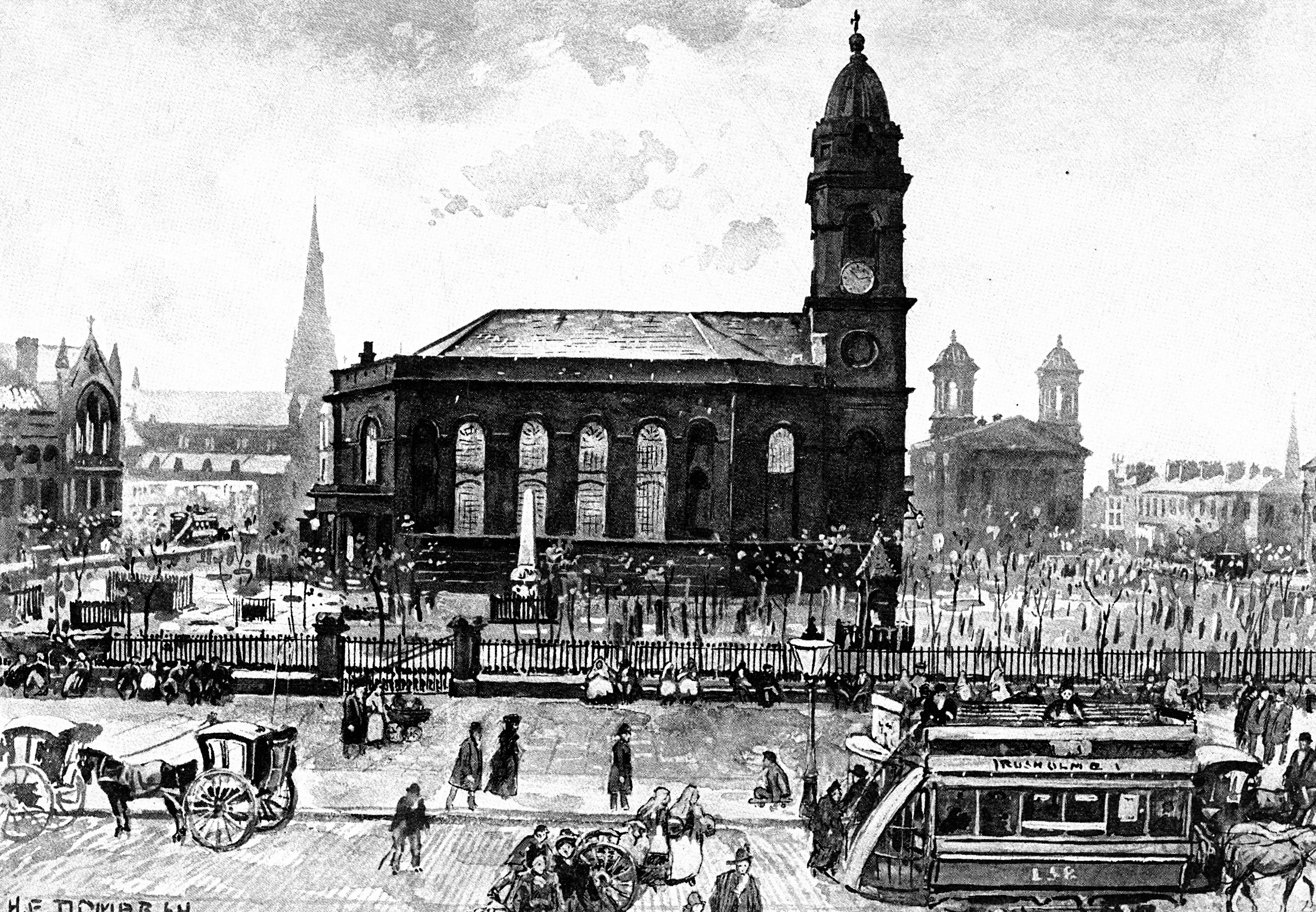 All Saints Church 1890 (Image courtesy of Manchester Libraries and Archives)