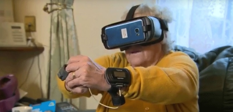 Pauline Pearson trials the new VR exercise app for patients with Chronic Obstructive Pulmonary Disease