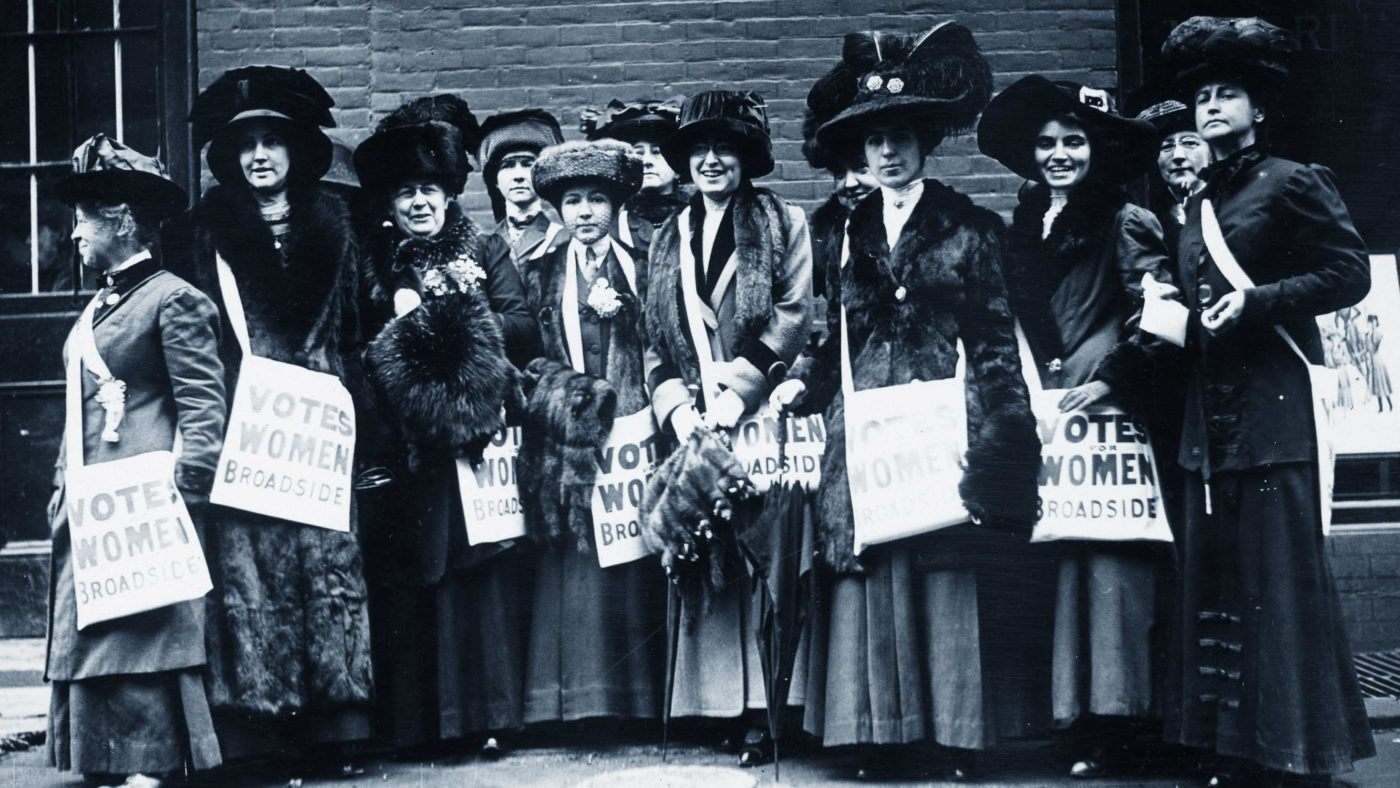 Suffragettes campaigning