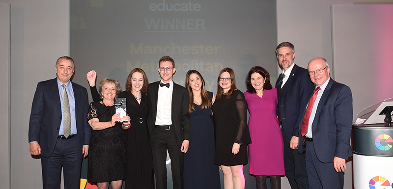 The Apprenticeships Team collect the Educate North Award in Manchester