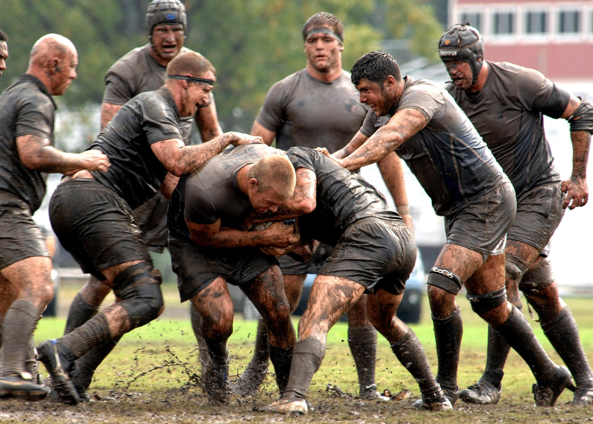 Rugby is a high-impact sport, helping by wearing  padding