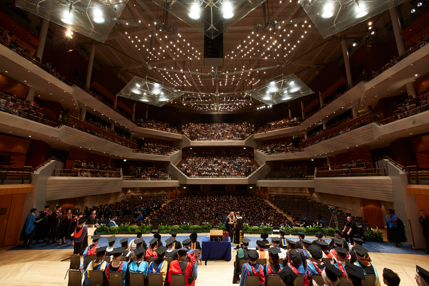 Graduation ceremonies take place in the resplendent Bridgewater Hall