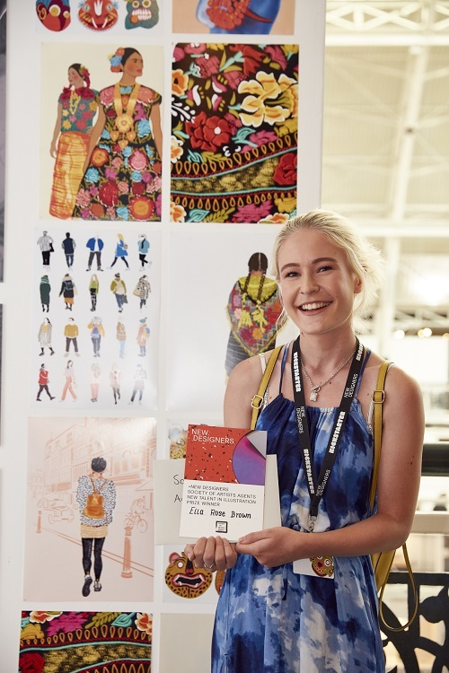 Ella Rose Brown, winner of the SAA New Talent in Illustration Associate Prize