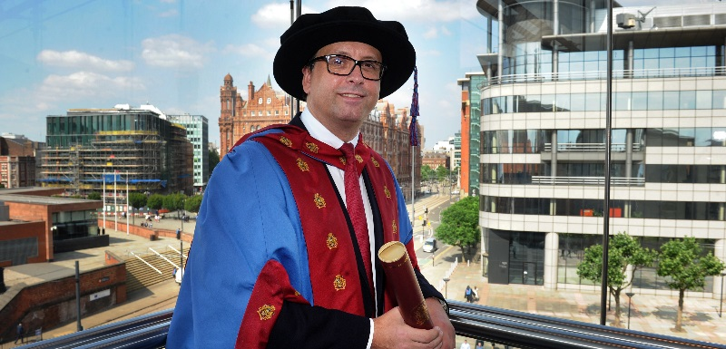 Paul Hudson, CEO of Novartis Pharmaceuticals, received an Honorary Doctorate in Business Administration