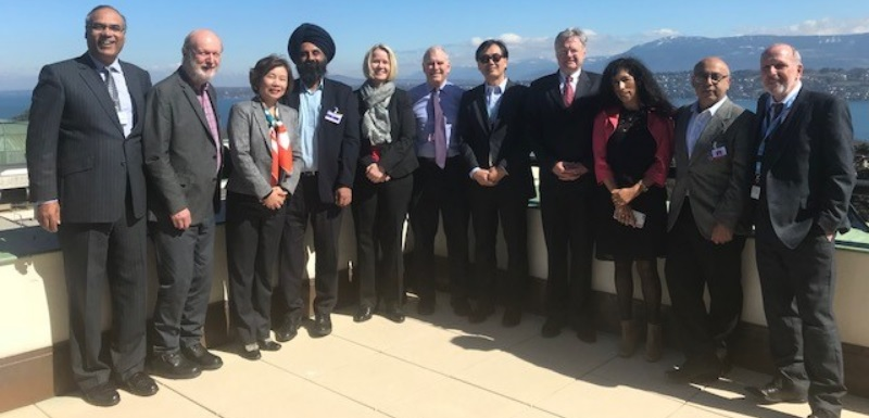 Heinz Tüselmann (far right) meeting with the high level expert group for the UN's World Investment Report