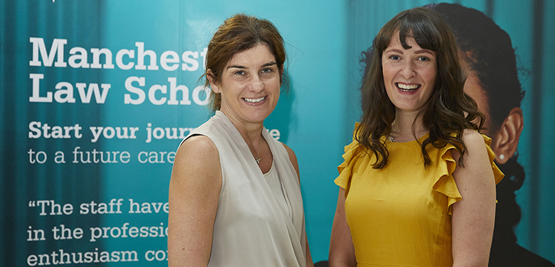 Sophie O'Kelly with Claire Livesey, Practice Manager at Latitude Law