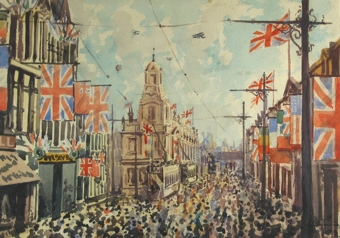 Oldham Victory Celebrations, by John Armitage (1919) (2)