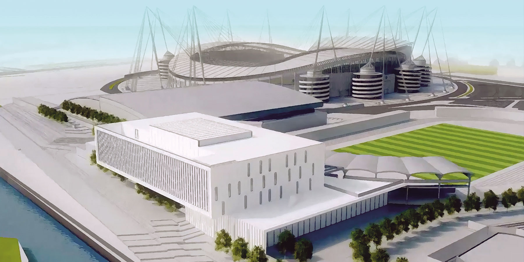 An artist's impression of Manchester Metropolitan's proposed Institute of Sport at the Etihad Campus