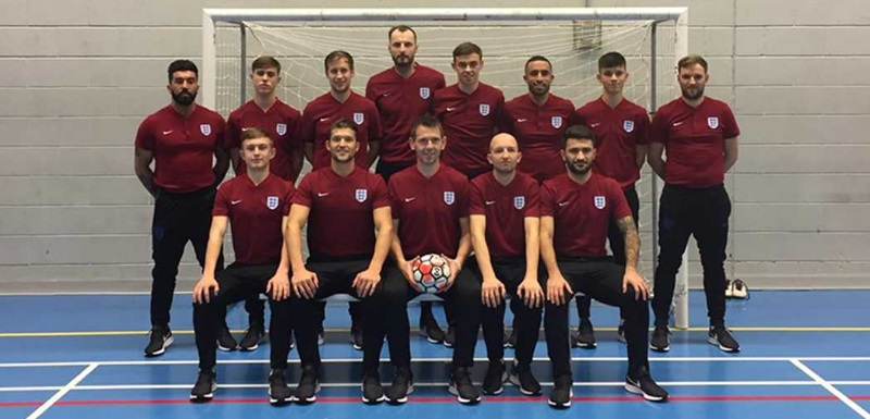 England men's deaf futsal squad prepared for the European Championships at Manchester Metropolitan