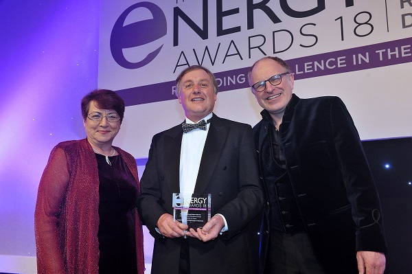 Ivan Hewlett, Senior Applications Engineer at Siemens, collected the Public Building Energy Project of the Year award at the 2018 Energy Awards