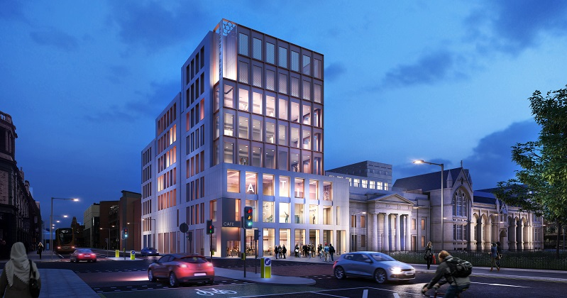 An artist's impression of the new building