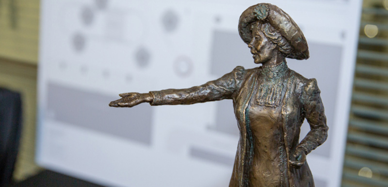The statue of Emmeline Pankhurst will be only the second of a woman in Manchester's city centre