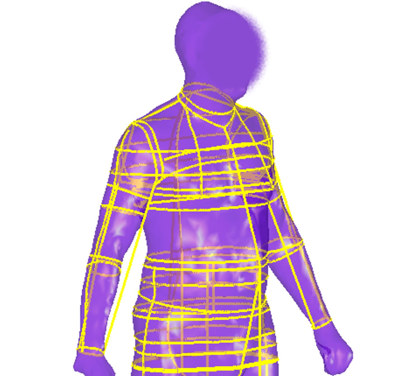 Male body scan image