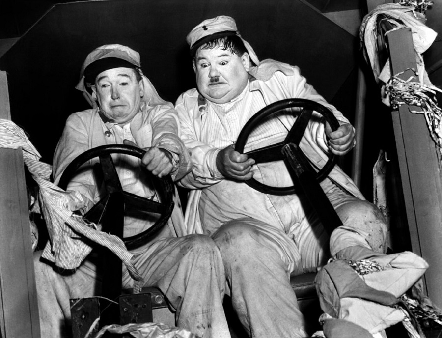 Laurel and Hardy in 'The Flying Deuces (1939)'