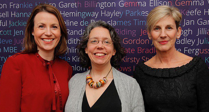 (From left to right) GROWL project leaders Dr Helen Woolnough and Professor Julia Rouse are joined by Lindsay Watkin, Associate Head of the Department of Management at Manchester Met Business School