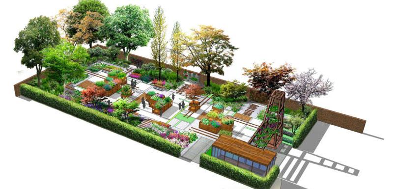 Winning RHS garden design